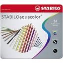 Pastelli Stabilo Aquacolor 24PZ Scatola Metallo