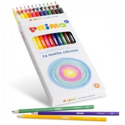 24 Pastelli Primo Colorate  Laccate FSC