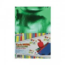 Carta Metallizzata 10 fogli Colori Assortiti 180gr