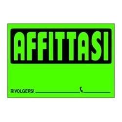 """CARTELLI """"AFFITTASI"""" FLUO"""