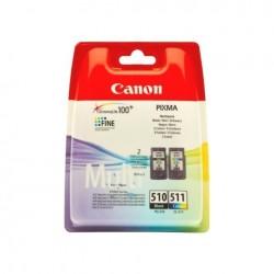 CARTUCCIA CANON MULTIPACK PG510+CL511 2970B010 ORIGINALE