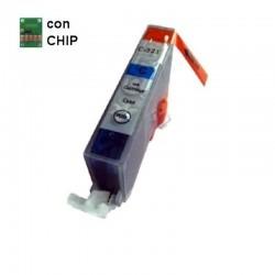 CARTUCCIA COMPATIBILE CANON CLI-521 CIANO CON CHIP INKPIU