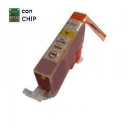 CARTUCCIA COMPATIBILE CANON CLI-521 GIALLO CON CHIP INKPIU
