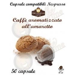 50 CAPSULE ''CAFFE' TRE VENEZIE '' PER NESPRESSO AROMATIZZATO AMARETTO
