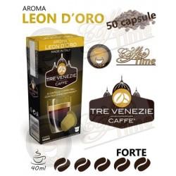 50 CAPSULE CAFFE' TRE VENEZIE NESPRESSO LEON D'ORO INTENSO FORTE