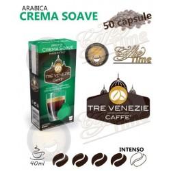 50 CAPSULE CAFFE' TRE VENEZIE PER NESPRESSO CREMA SOAVE MEDIA TOSTATURA