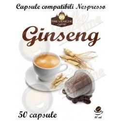 50 CAPSULE GINSENG ''CAFFE' TRE VENEZIE'' PER NESPRESSO CREMOSO