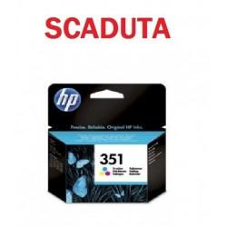 CARTUCCIA HP 351 COLORE ORIGINALE CB337EE SCADUTA GARANTITA 100%