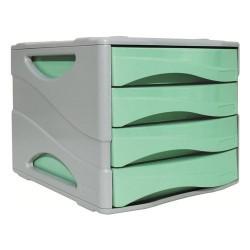 Cassettiera 4 Cassetti Arda Pastel Verde Pastello
