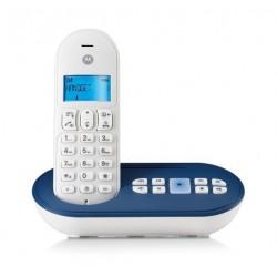 CORDLESS MOTOROLA DECT GAP T111 CON SEGRETERIA TELEFONICA BLU