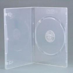 CUSTODIA DVD 9 MM SINGOLA CLEAR BIANCA TRASPARENTE