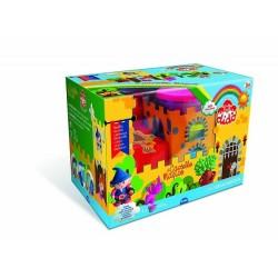 Didò Castello magico con 5 barattoli (colori misti) + 6 formine + stickers ed accessori