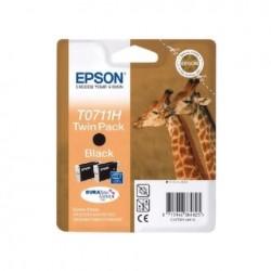CARTUCCIA ORIGINALE EPSON C13T0711H T0711H NERO CONF. 2 PEZZI