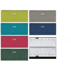 Agenda 2021 30x13 cm Planning base settimanale Pastel spiralato - 6 Colori assortiti F03088