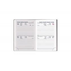 Agenda 2020 6,5X10 cm bi-giornaliera tascabile Pastel Mini - 4 Colori assortiti F03022