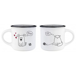 ESPRESSO FOR TWO - COFFEE MUG - DOG&CAT
