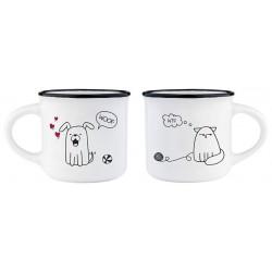 ESPRESSO FOR TWO - COFFEE MUG - DOG&CAT