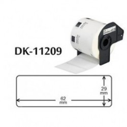 ETICHETTE BROTHER DK11209 COMPATIBILI 62mmX29mm 800psc