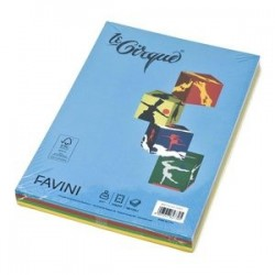 FAVINI CARTA A4 160 GR 100 FG 4 COLORI FORTI ASSORTITI