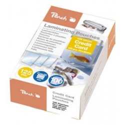 FOGLI PER PLASTIFICARE CREDIT CARD 54X86 100PZ PEACH PP525-07
