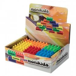 Gomme a mattoncino per cancellare e giocare, adatte per matite colorate e in grafite. colori assortiti.