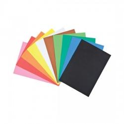 10 Fogli Eva foam gomma crepla espansa tinta unita da 2 mm A4 Colori Assortiti