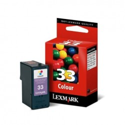 CARTUCCIA ORIGINALE LEXMARK 33 COLORE 18CX033E