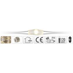 Luci Micro Led 120 bianco caldo 12+3 mt Per esterno