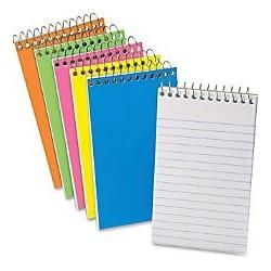 Memo Book spiralato 10,2 x 15,2 cm 45 fogli 1 Rigo conf. 3 pezzi