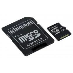 Memory Card Micro Sd con adattatore 128 Gb Kingston Classe 10