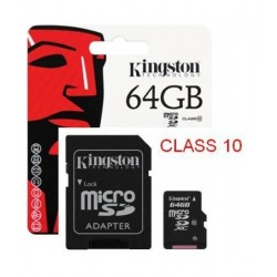 MICRO SD 64 GB KINGSTON C10