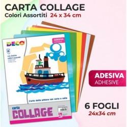ALBUM COLLAGE 6 FOGLI ADESIVI 24X34 CM