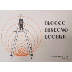 Album disegno liscio 20 fogli 24x33 85 gr Carta Raffaello Ecobra