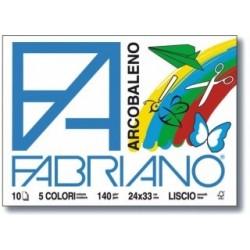 ALBUM FABRIANO ARCOBALENO 24X33 10 FOGLI