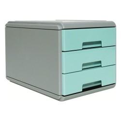 Minicassettiera 3 Cassetti Arda Pastel Azzurro Pastello