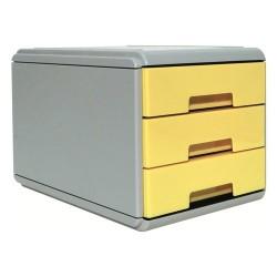 Minicassettiera 3 Cassetti Arda Pastel Giallo Pastello