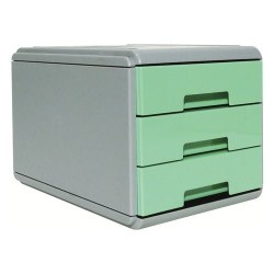 Minicassettiera 3 Cassetti Arda Pastel Verde Pastello