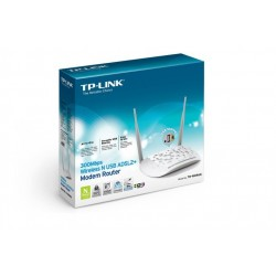 MODEM ROUTER TP-LINK WIRELESS 300MBPS ADSL2+ USB SHARING-3G-4G