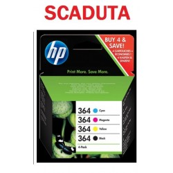 MULTIPACK HP 364 SD534EE ORIGINALE SCADUTO GARANTITO 100%