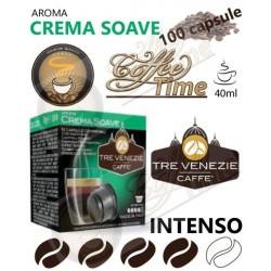 100 CAPSULE ''CAFFE TRE VENEZIE'' PER CAFFITALY CREMA SOAVE MEDIA TOSTATURA