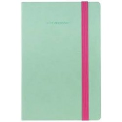 MY NOTEBOOK LEGAMI TACCUINO MEDIUM A QUADRETTI VERDE ACQUA