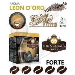 100 CAPSULE ''CAFFE TRE VENEZIE'' PER CAFFITALY LEON D'ORO FORTE