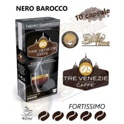 "NESPRESSO - 10 CAPSULE ""CAFFE' TRE VENEZIE'' NERO BAROCCO - FORTISSIMO"