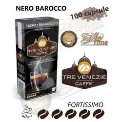 "NESPRESSO - 100 CAPSULE ""CAFFE' TRE VENEZIE'' NERO BAROCCO - FORTISSIMO"