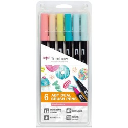 Astuccio 6pz ABT Dual Brush Tombow Colori Candy