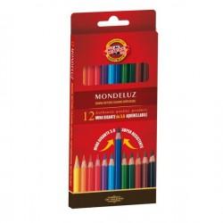 Pastelli Matite Colorate Acquerellabili Mondeluz Koh-i-noor da 12pz