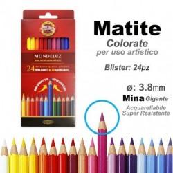Pastelli Matite Colorate Acquerellabili Mondeluz Koh-i-noor da 24pz