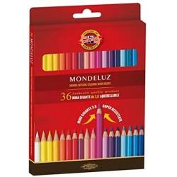 Pastelli Matite Colorate Acquerellabili Mondeluz Koh-i-noor da 36pz