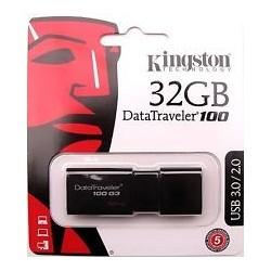PEN DRIVE 32GB KINGSTON DATA TRAVEL DT-100 BLACK USB 3.0