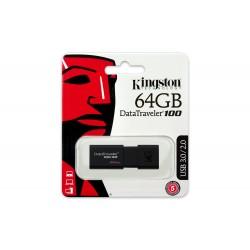 PEN DRIVE 64GB KINGSTON DATA TRAVEL DT100 USB 2.0/3.0/3.1 BLACK